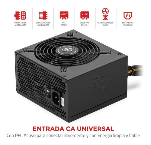 fuente pc gamer sentey mbp750-hm 750w reales 80 plus modular