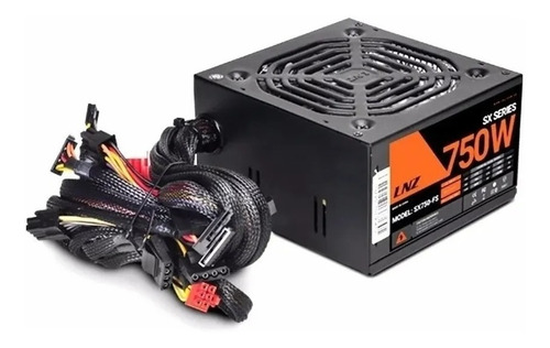 fuente pc sentey lnz sx750-fs 750w real fan 120 led gamer
