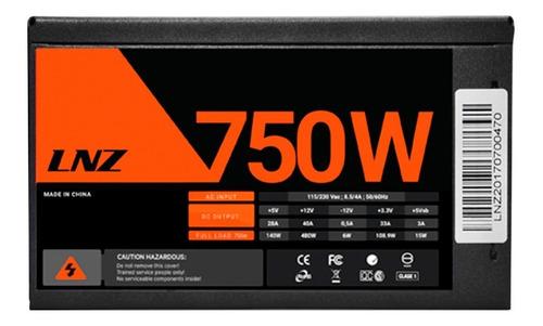 fuente pc sentey lnz zx750-ls 750w fan 120mm color led pce