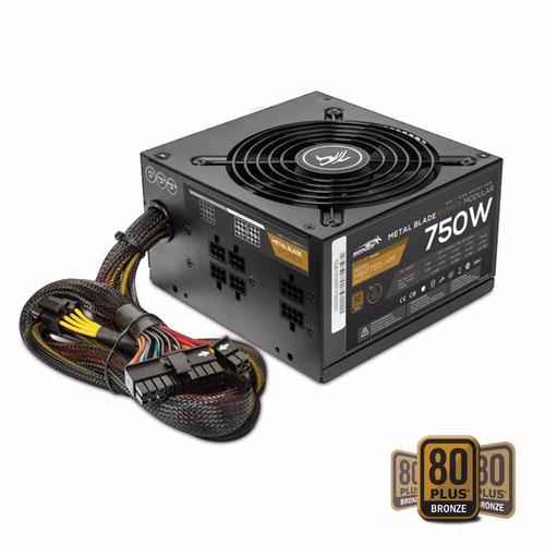 fuente pc sentey mbp750-hm 750w reales 80 plus modular gamer