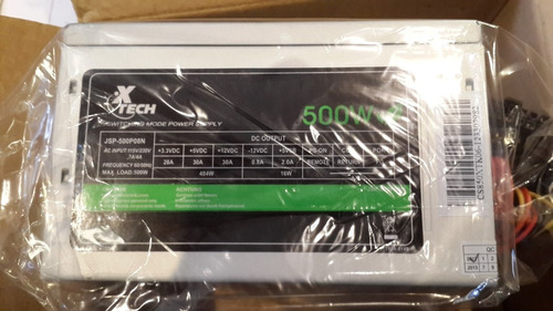 fuente poder 500w xtech computadora | gigatecno ec