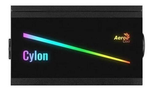 fuente poder aerocool cylon rgb 600w 80 plus bronze en caja