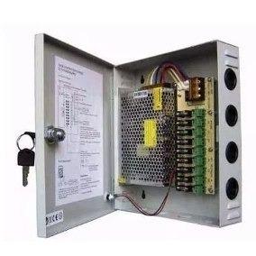 fuente poder centralizada 9 canales 12v 10a camaras cctv