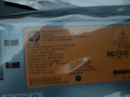 fuente poder hp hstns-pl29 750w servidor hp proliant