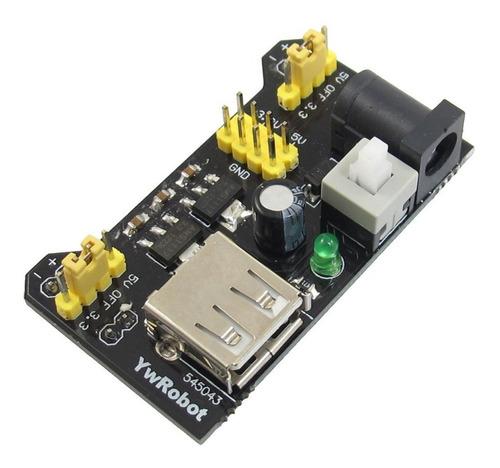 fuente protoboard 5v 3.3v salida usb mb102 arduino