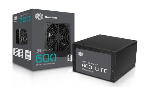 fuente real 600w 80plus certificada cooler master lite