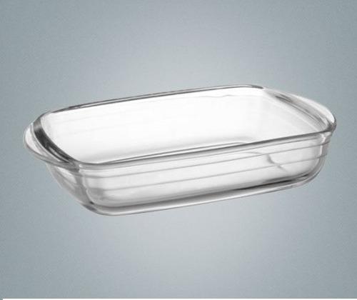 fuente rectangular para horno vidrio templado 28x20
