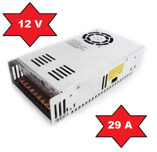 fuente switching 12v 29/30a metalica regulada tira led cctv