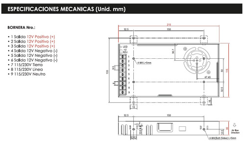 fuente switching 12v 30a metalica slim 360w rms led garantia