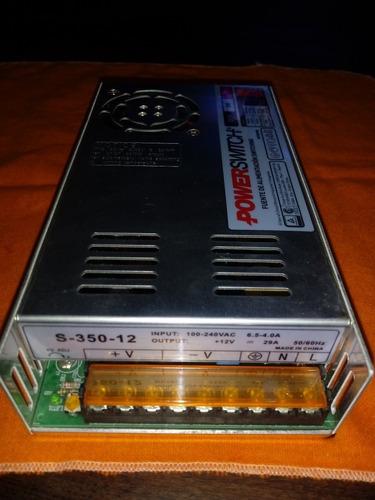 fuente switching 12v 30amp salida regulable.