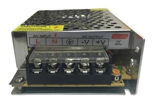 fuente switching 12v 5a metalica tira led cctv camaras gtia