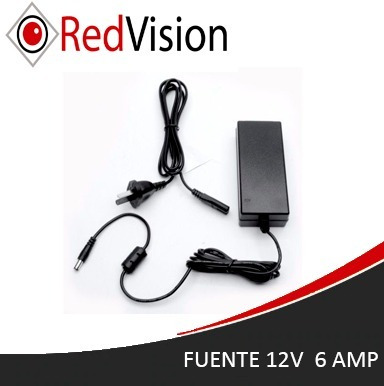 fuente switching 12v 6 amp  - cctv - redvision
