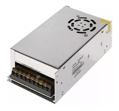 fuente switching 5v 60a 300w regulable metálica con cooler