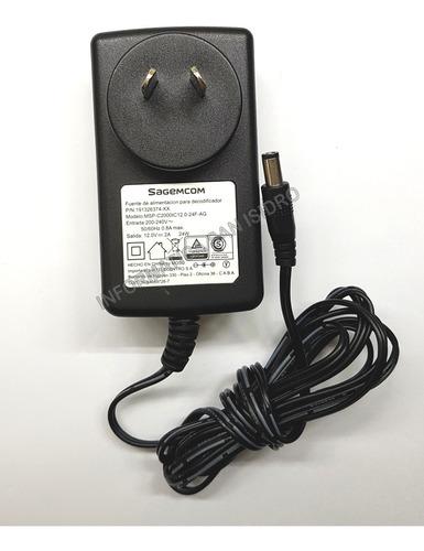 fuente switching ac 220v - dc 12v - 2a sagemcom 2 amper