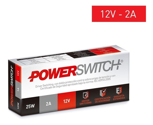 fuente switching alimentacion driver 12v 2a tiras led