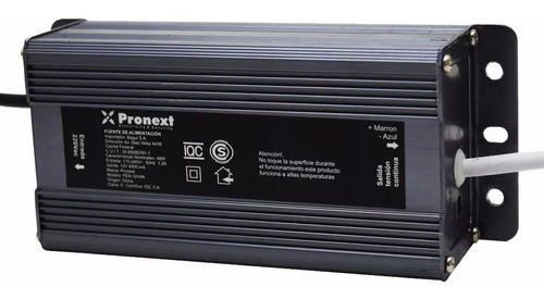 fuente switching exterior pronext 12v 4a certificada ip66