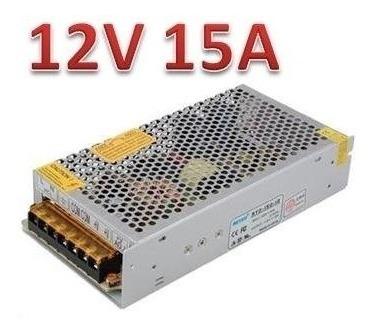 fuente switching metal 12v 15a 180w apta para leds factura a