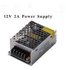 fuente switching metálica 12v 2a tensión regulable seguridad