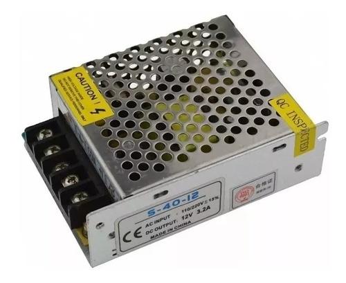 fuente switching metalica 12v 3a 36w apta tira de led