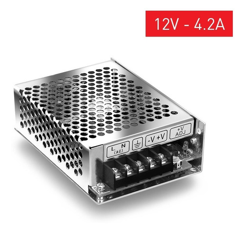 fuente switching metalica 12v 4a amp cctv tira led