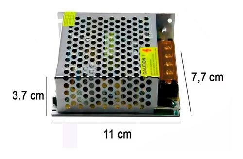 fuente switching metalica 12v 5a cctv tiras led camaras