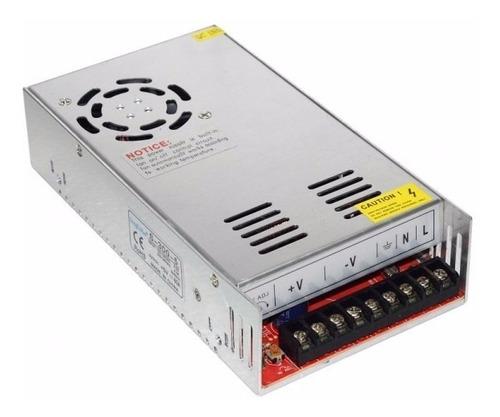 fuente switching metalica 24v 15a led cctv apta tiras