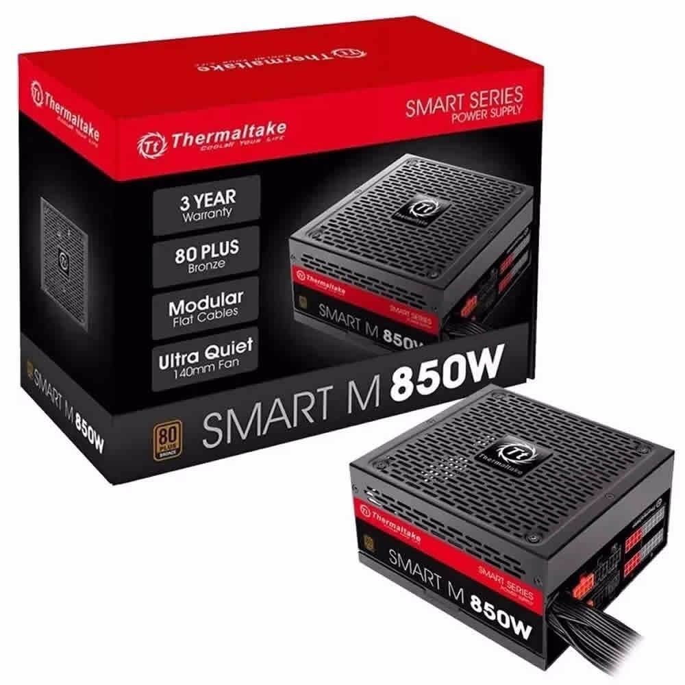 Fuente Thermaltake 850w Smart Series  SP-850AH3CCB Semimodular