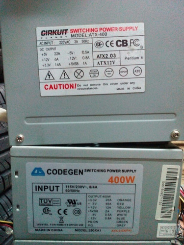 fuentes atx 400watts
