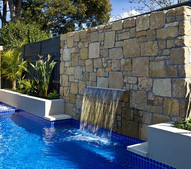 Fuentes cascada de pared ancho 50 cm iluminacion led for Cascada artificial en pared
