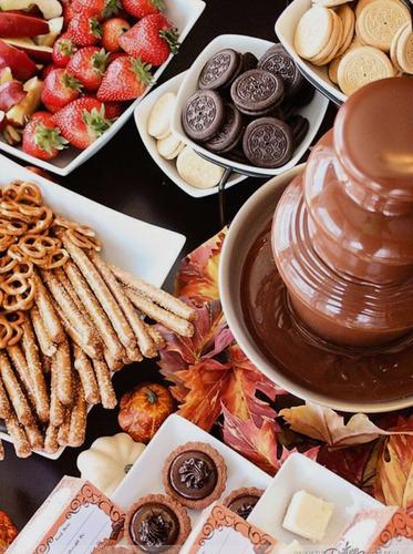 fuentes chocolate para