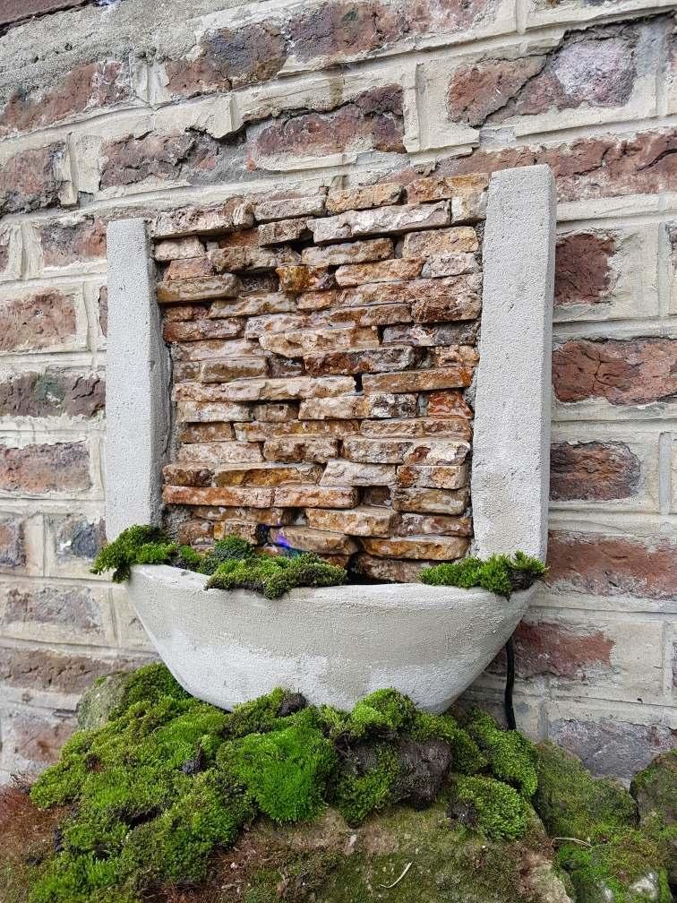 Cascadas de piedra para jardin good fuente de agua cascada mediana piedra natural ideal - Fuentes para jardin de piedra ...