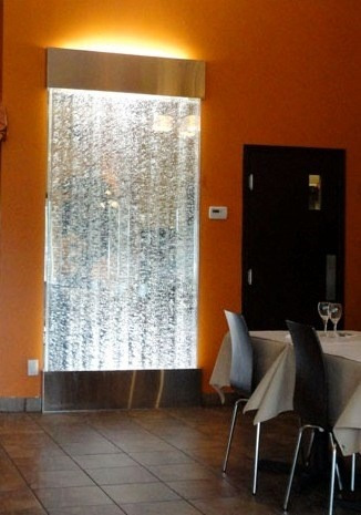 Fuentes de agua tipo paredes de burbujas 180 x 40 base for Fuentes de pared interior