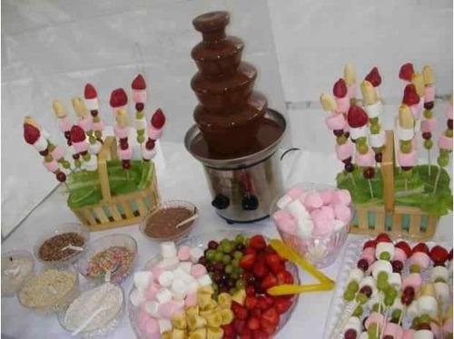 fuentes de chocolate exquisitas, muñecotes, festejos y mas