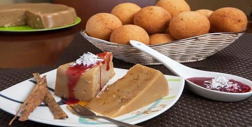 fuentes de chocolate sephra, buñuelos natilla, maiz, perros
