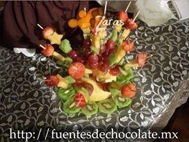 fuentes de chocolate y chamoy