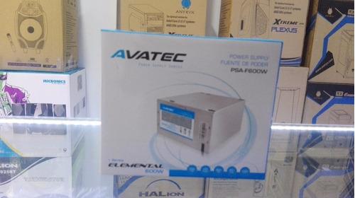 fuentes de poder 600 watts avatec - halion envios
