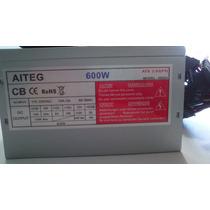 Fuente De Poder Atx 600w 20/24 Pines Conector Ide Sata Pc