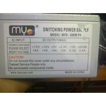 Fuente De Poder Myo Slim 500w P4 20/24 Pines