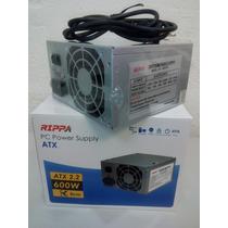 Fuente De Poder Atx 600w Conector Sata Ide Pc 20 24pintienda