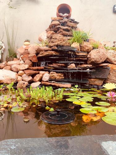 fuentes y cascadas para jardines e interior