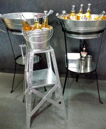 fuenton de chapa de zinc grande / frapera eventos vintage