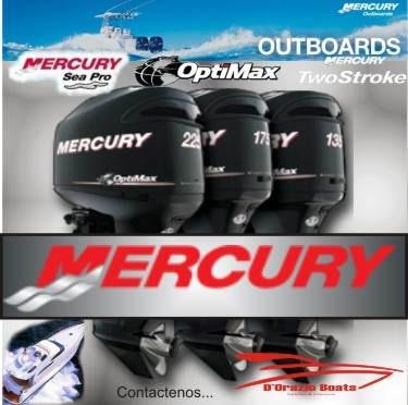 fuera de borda mercury 15 hp 4 tiempos arr. electric dorazio