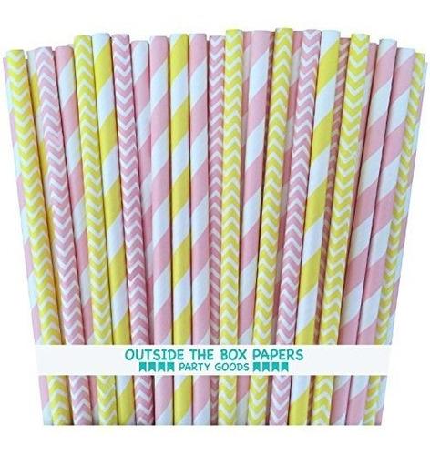 fuera de la caja papers pink stripe y chevron yellow paper p