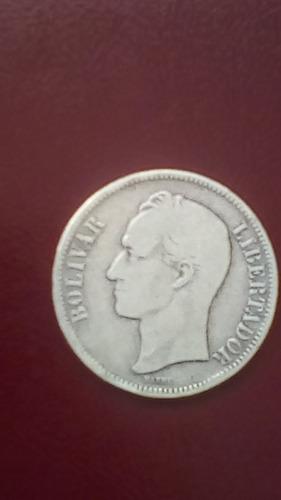 fuerte de plata año 1886. de epoca guzmancista. lei 900