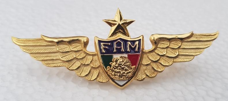 Fuerza Aerea Mexicana Alas De Pecho Para Piloto Aviador 2