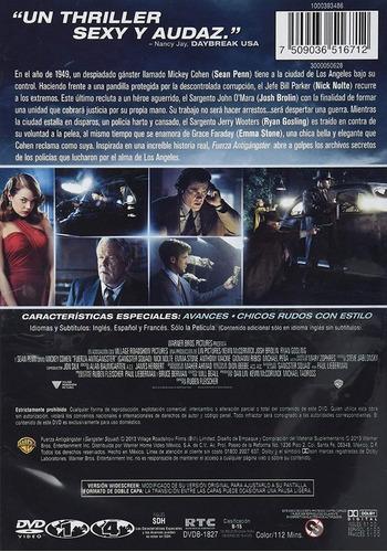 fuerza antigangster gangster squad ryan gosling pelicula dvd