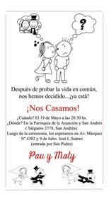 Fugitivos Tarjeta Invitación Casamiento Imprimible Digital