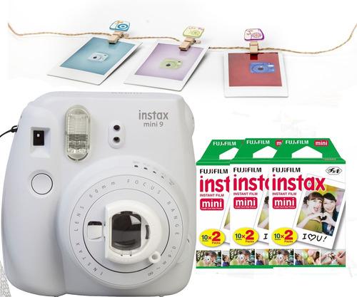 fuji instax mini 9 blanca ahumada 60 fotos broches oficiales