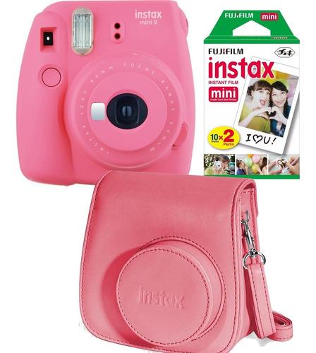 fuji instax mini 9 rosa 20 fotos carterita oficial