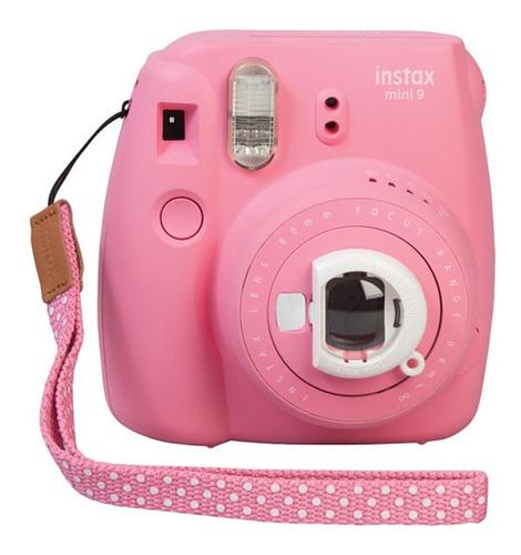 fuji instax mini 9 rosa flamenco tipo polaroid nueva oficial